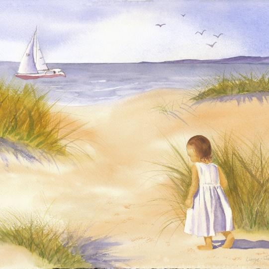 Beach in Watercolor