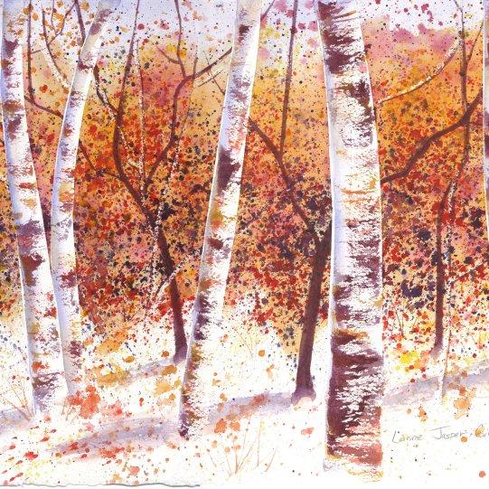 Autumn Woods in Watercolor
