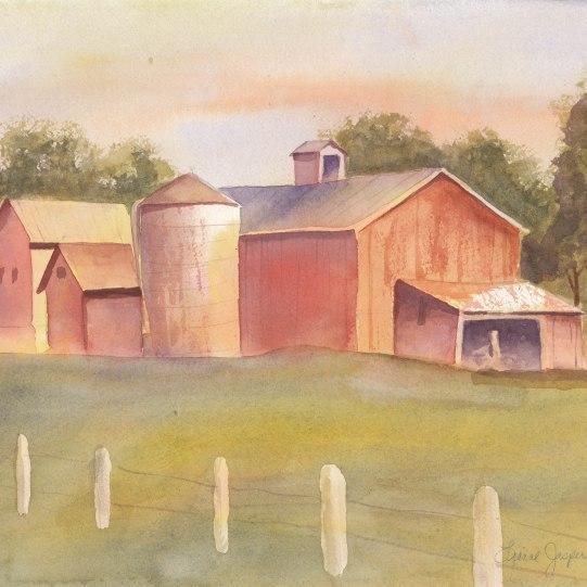 Farmhouse in Watercolor